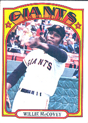 1972 Topps Baseball Cards      280     Willie McCovey